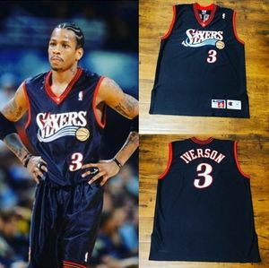 76ers  iverson jersey champion star